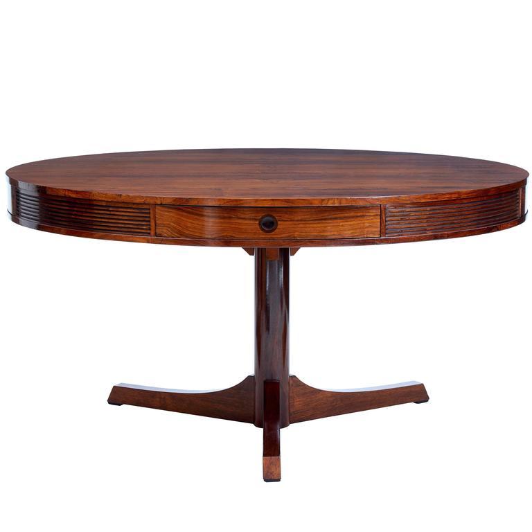 1960s Robert Heritage Rosewood Drum Table