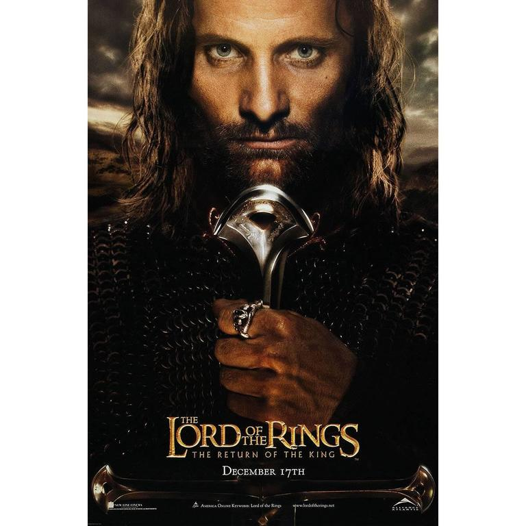 Lord Of The Rings The Return Of The King Film Poster 2003 For
