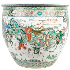 19th Century Chinese Famille Verte Fish Bowl