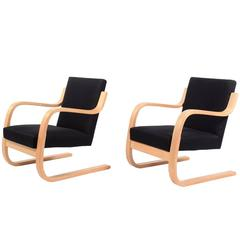 Pair of Alvar Aalto Cantilevered Armchairs for Artek