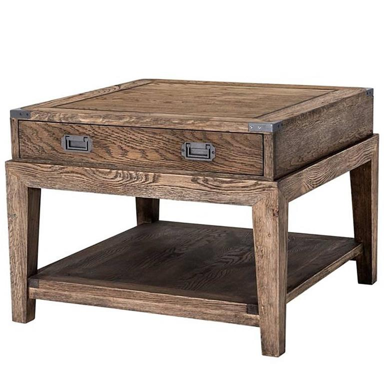 GI Side Table in Solid Oak Smoked Finish