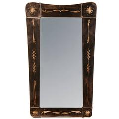 Rare Mirror in Style of Fontana Arte