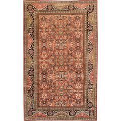 """Hand-knotted Antique Mahal Rug, 9'5"""" x 15'6"""""""