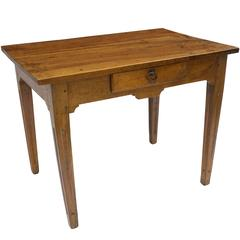 Early 19th Century, French Walnut Table with Single Drawer