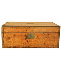 Antique Burl Wood Travel Desk