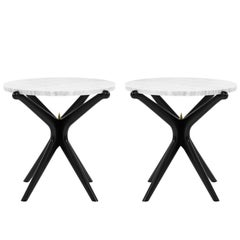 Ebonized Gazelle Side Tables