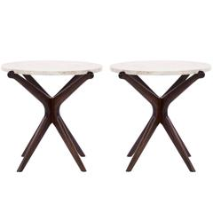 Walnut Gazelle Side Tables
