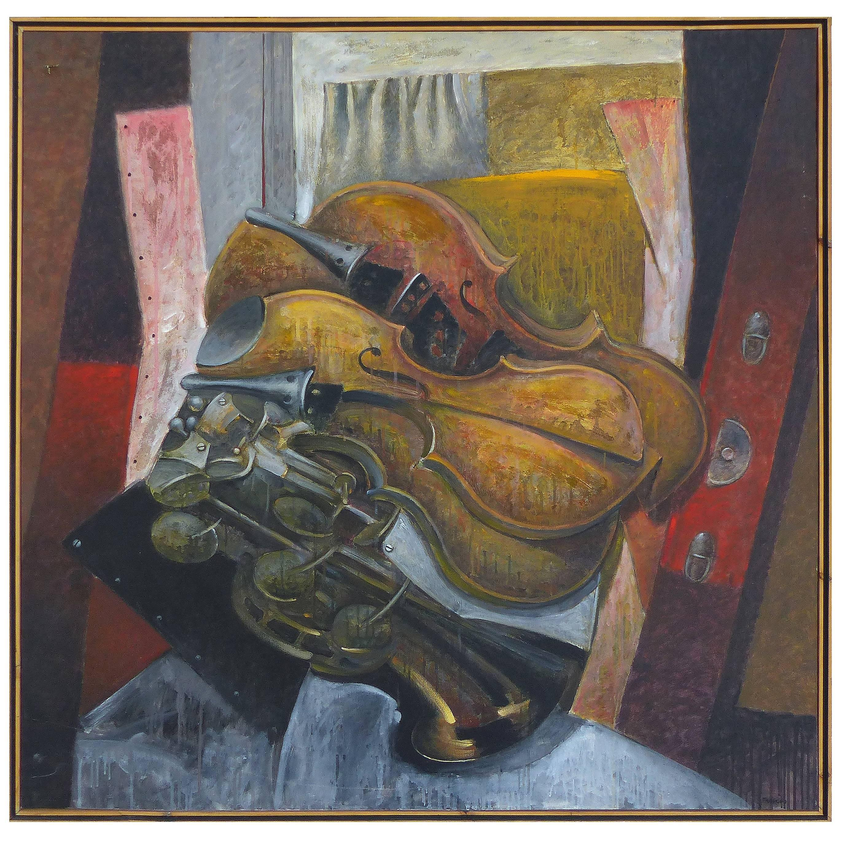"""""""Impetuous Violinist"""", Oil on Canvas by Jesus Marcos"""