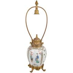 Kangxi Period Famille Verte Jar/Lamp