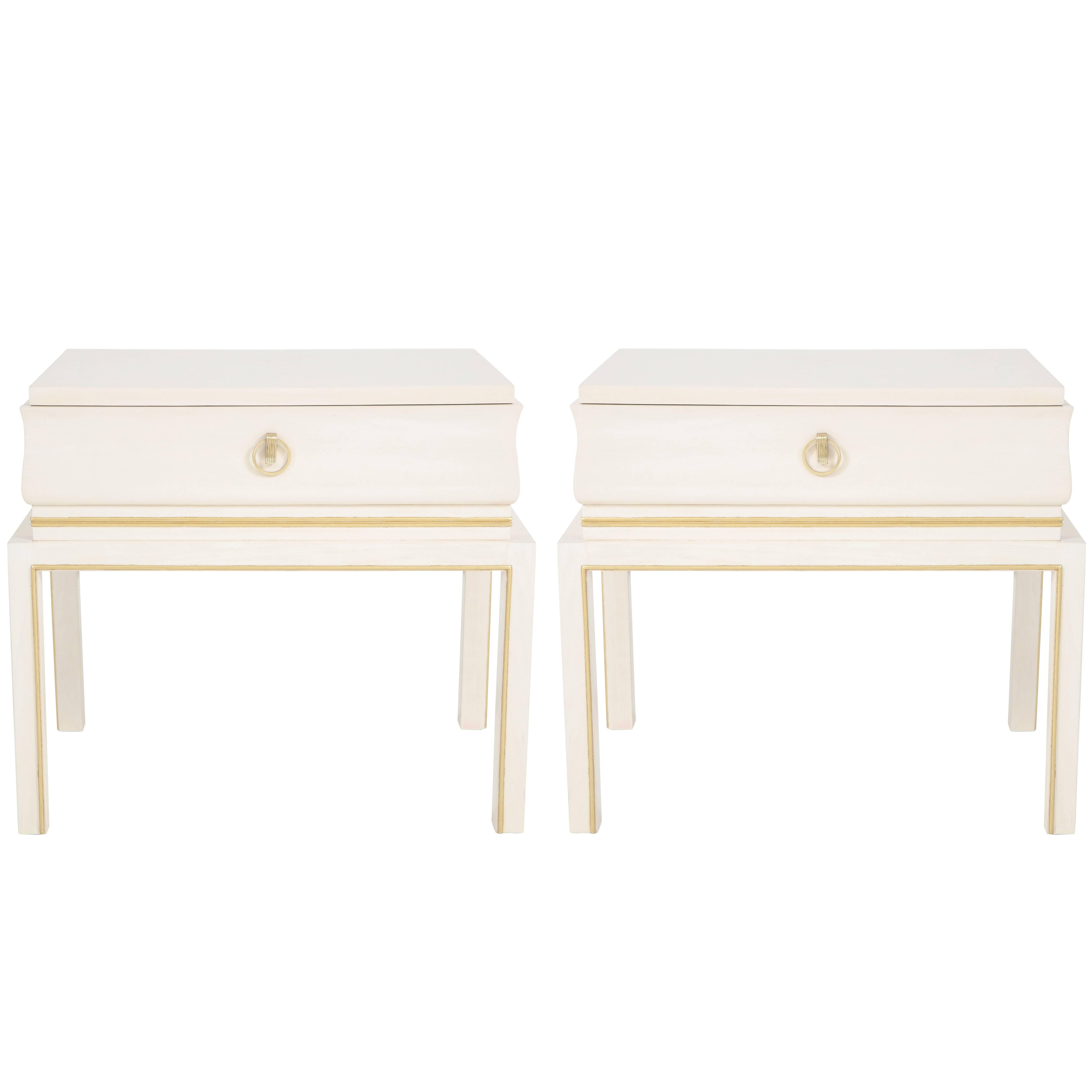 Tommi Parzinger Bleached Maple Nightstands