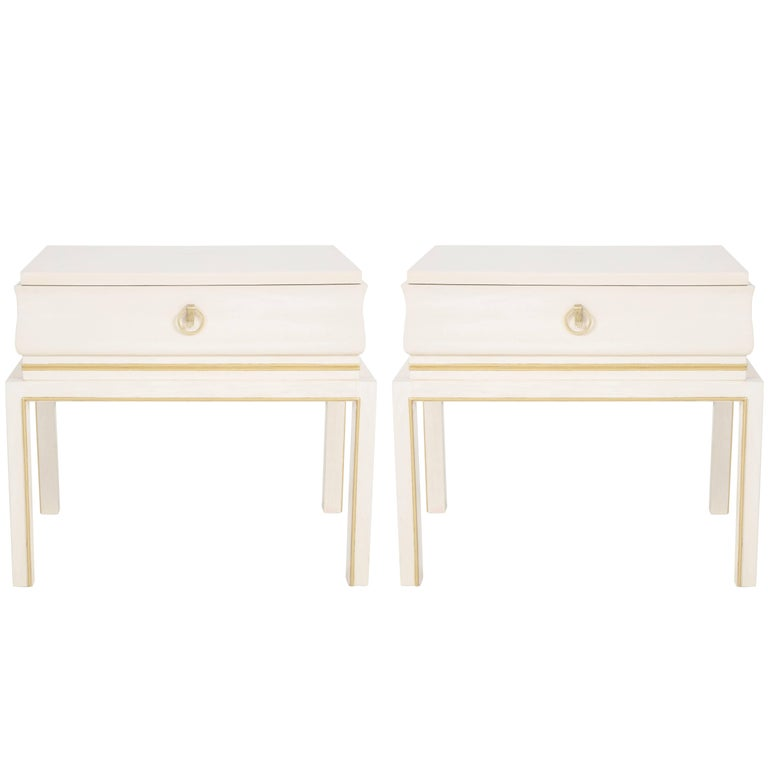 Tommi Parzinger Bleached Maple Nightstands For Sale