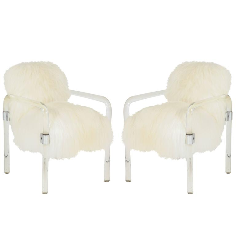 Jeff Messerschmidt Lucite Armchairs For Sale