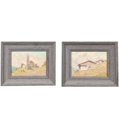 Pair of Continental Mountainscapes