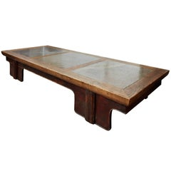 18th Century Chinese Puddle Stone Low Calligraphy Table