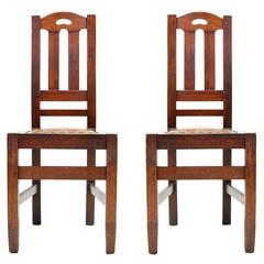 Pair of Stickley Brothers Arts and Crafts Chairs