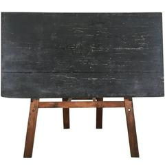 Vintage American Double Sided School Chalkboard For Sale