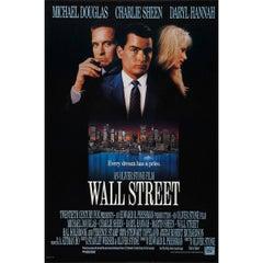 """Wall Street"" Film Poster, 1987"