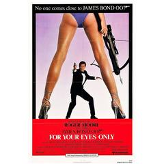 """""""For Your Eyes Only"""" Film Poster, 1981"""