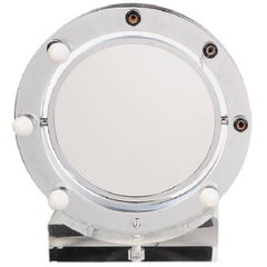 Lucite and Chrome Makeup Mirror with Magnifying Feature by Charles Hollis Jones
