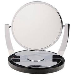 Deco Style Vanity/Makeup Mirror with Magnifying Side by Charles Hollis Jones
