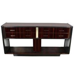 Art Deco Design Console Table or TV Rack made of Macassar