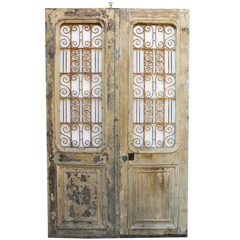 Pair of antique french double doors for sale at 1stdibs for Double doors for sale