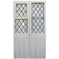Pair of 1920s French Pine Exterior Doors