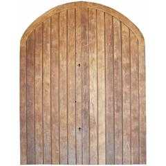 Pair of 20th Century Arched Oak Double Doors