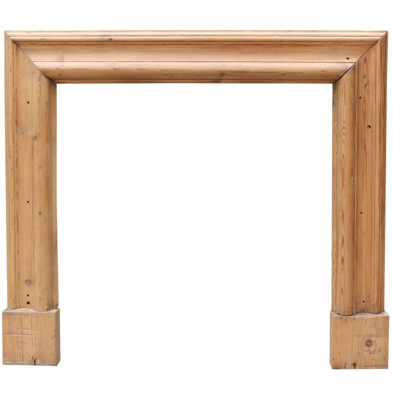 Late 19th Century Pine Bolection Fire Surround For Sale