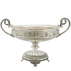 1920s Antique Sterling Silver Presentation Bowl by James Dixon & Sons