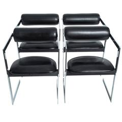 Bauhaus Black Leather Chairs