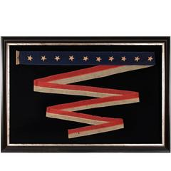 "U.S Navy Homeward-Bound or Commissioning Pennant with 10 Stars, Signed ""Jordan"""