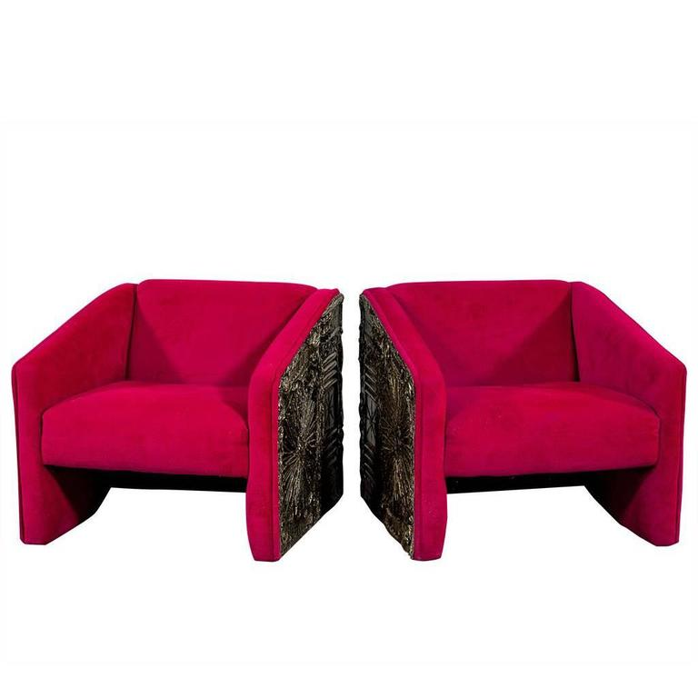 Pair of Adrian Pearsall Brutalist Parlour Arm Chairs