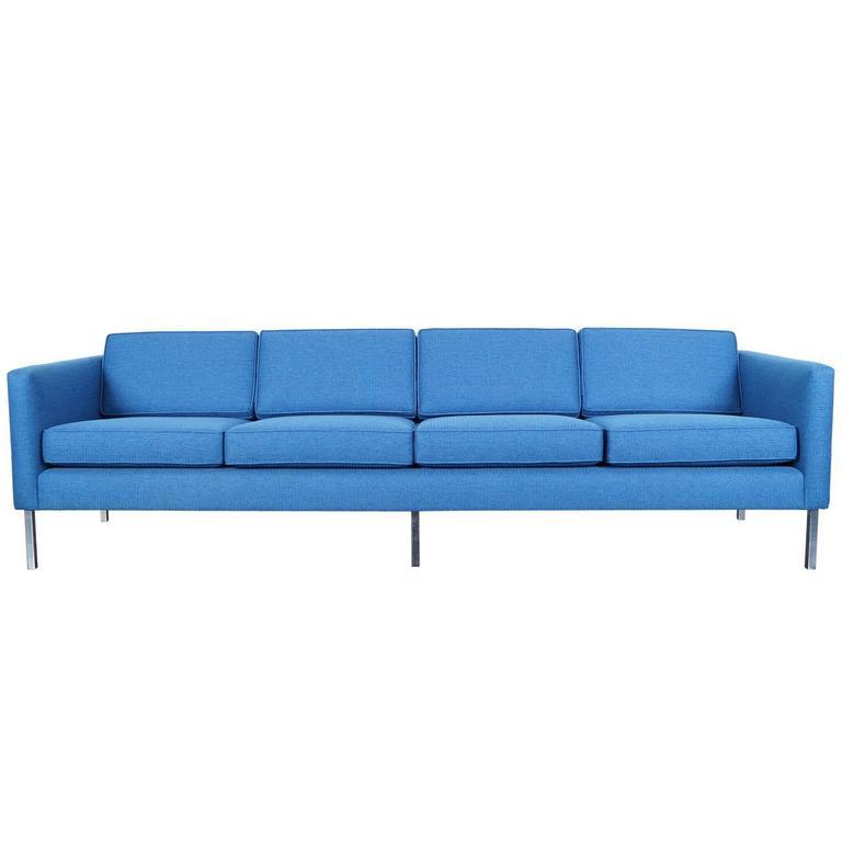 Mid-Century Modern Chrome Sofa