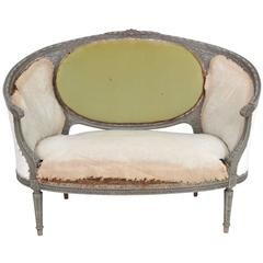 Antique Distressed Painted Louis XVI Style Sofa