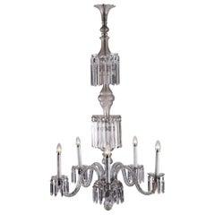 Elegant Austrian Glass Chandelier and Wall Lamp Mid Century Modern - Original