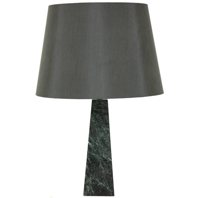 Marble Obelisk Table Lamp For Sale
