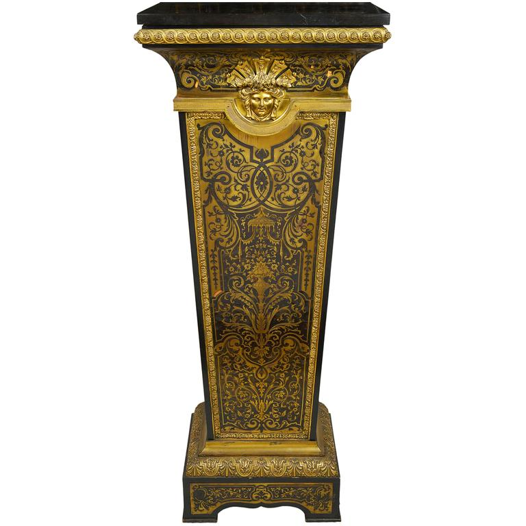 19th Century French Boulle Pedestal