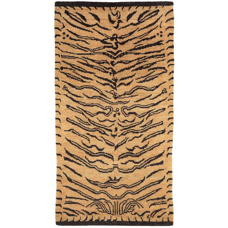 Abstract Tiger Wool Area Rug 1