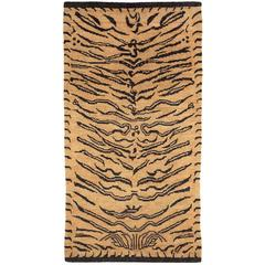 Abstract Tiger Wool Area Rug