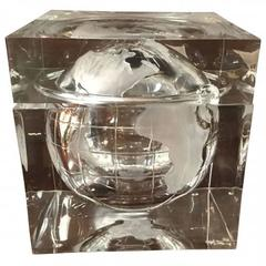 Alessandro Albrizzi Lucite World Globe Form Ice Bucket