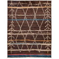 Brown Moroccan Area Rug