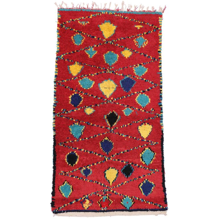 Vintage Berber Moroccan Rug with Modern Tribal Design