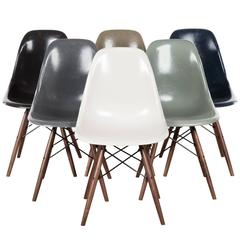 Set of Six Eames DSW Herman Miller, USA Dining Chairs