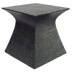 Single Patinated Steel Side Table, France, 2017