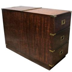 Campaign Style Chest Type Drexel Dry Bar Vintage, Mid-Century