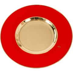 Chic Chargers in Brilliant Red and Brass by Etro Design