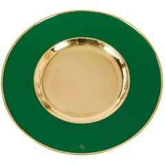 Chic Chargers in Emerald Green and Brass by Etro Design