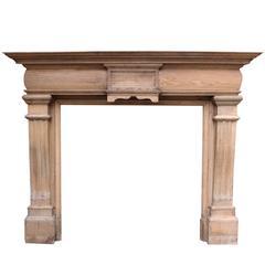 Late Victorian Oak Fireplace