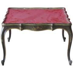 Chinoiserie Paint Decorated Églomisé Glass Top Coffee Table